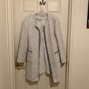 White and black pearl jacket